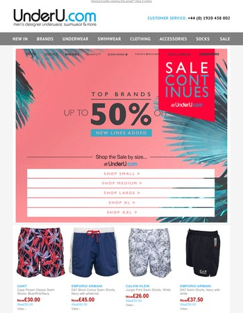 Summer SALE - 100's of lines added - now up to 60% off Top Brands