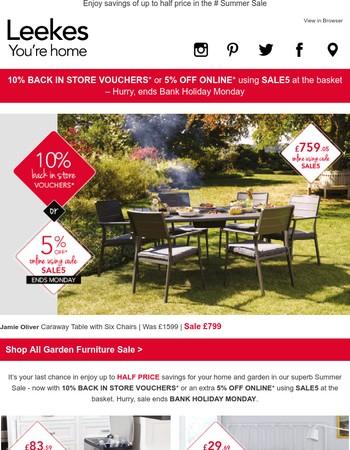 Garden Furniture Vouchers leekes : offers from newsletters