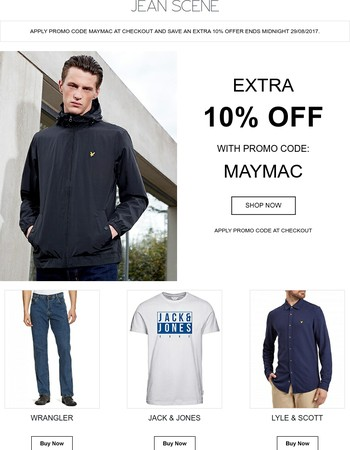 Extra 10% Off Sale This Bank Holiday | Promo Code MAYMAC