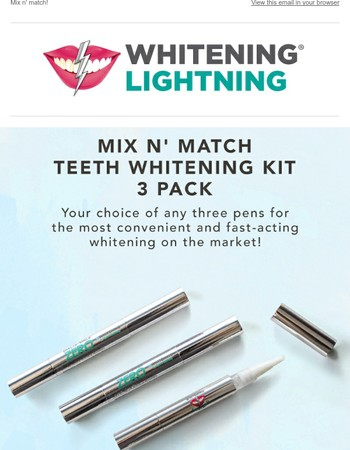 Whitening Lightning Newsletter