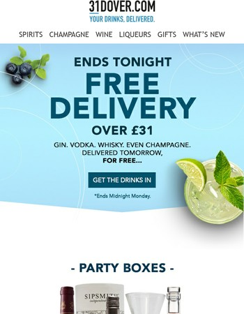 Just sayin' - Free Delivery ends tonight...