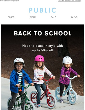 Back to School Savings. Ride to School with Style.