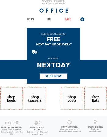 How about FREE next day delivery?