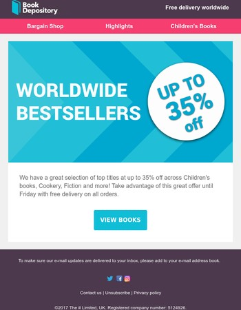 Up To 35% Off Worldwide Bestsellers