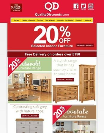 20% Off Oak Furniture Sale Now On!