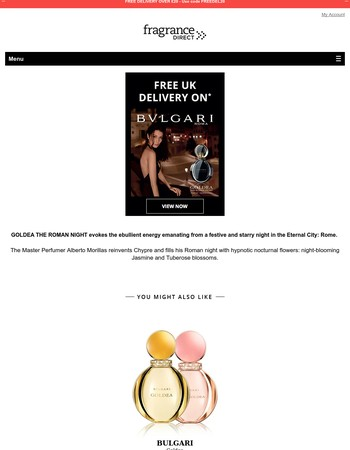 Get free UK delivery on all BULGARI!
