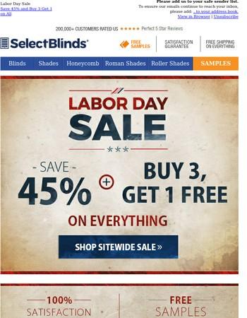 Work Hard. Shop Harder. Save 45% Plus B3G1 on All