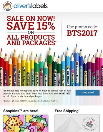 There's still time to SAVE for Back-to-School!