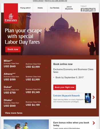 Make your next escape from $599*