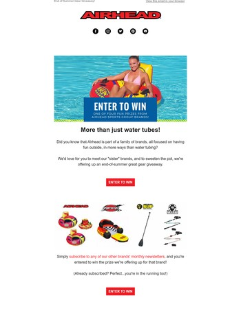 Enter to Win Our End of Summer Gear Giveaway!