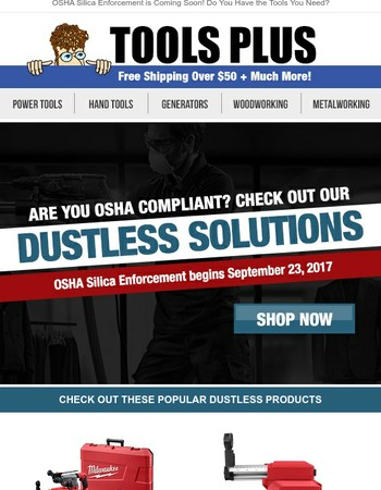 Are You OSHA Compliant Yet? Get Your Dustless Solutions for the Jobsite!