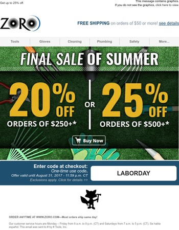 Last Sale of Summer (Final Hours)!