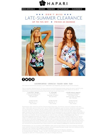 Don't Miss Up To 75% Off ⛱Late-Summer Clearance Sale
