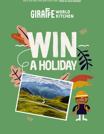 Win £500 towards your next holiday!