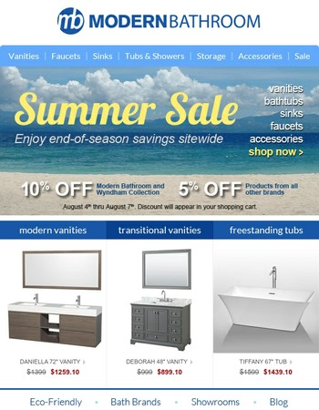 End-of-Summer Savings! Enjoy 5-10% Off Now thru Monday
