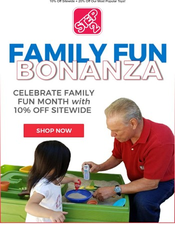 Celebrate Family Fun Month with Extra Savings!