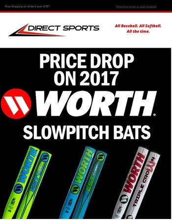 2017 Worth & Miken Slowpitch Bat Price Drops!  Starting at $239.95 + Free Shipping!