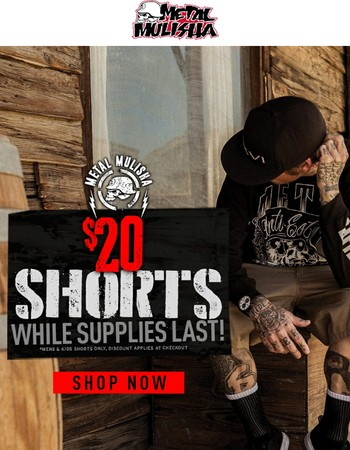 $20 Shorts & $20 Dresses For a Limited Time!