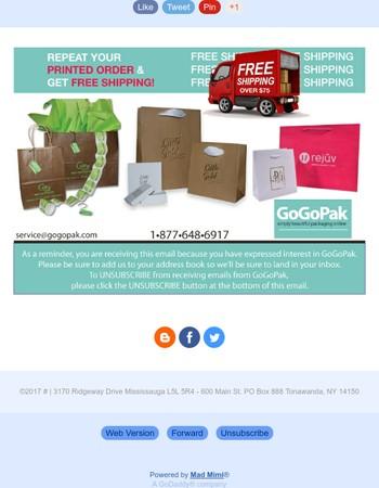 Get Amazing Custom Packaging...& Free Shipping