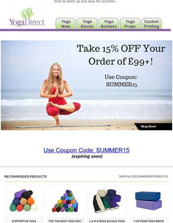 Weekend Yoga Sale - Take 15% OFF Sitewide [removing soon]