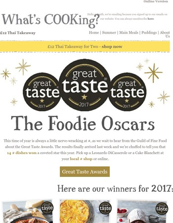 Discover the judges' picks in this year's foodie Oscars