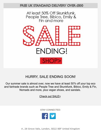 Hurry, Sale Is Ending I Big Discounts on Eco Brands