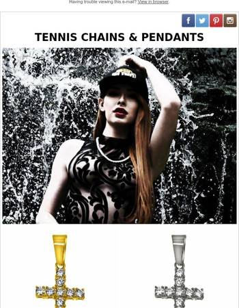 Hot Tennis Chains and Crosses on Sale
