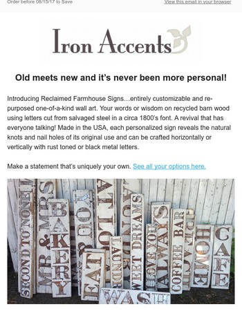 Iron Accents Coupons 30 Off Coupon Promo Code October 2017
