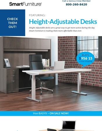 New, Affordable Sit To Stand Desks Available Now!