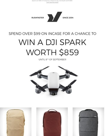 Chance to win a DJI Spark Drone worth $859