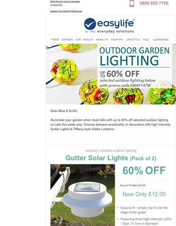 Up to 60% OFF Selected Outdoor Lighting