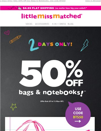 Back-2-School Ready? Let Us Help! 50% OFF Starts Now!