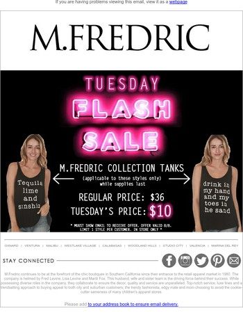FLASH SALE... TODAY!