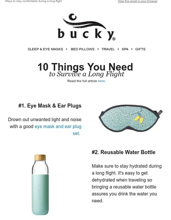 10 things you need to survive a long flight✈