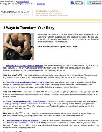 4 Ways to Transform Your Body