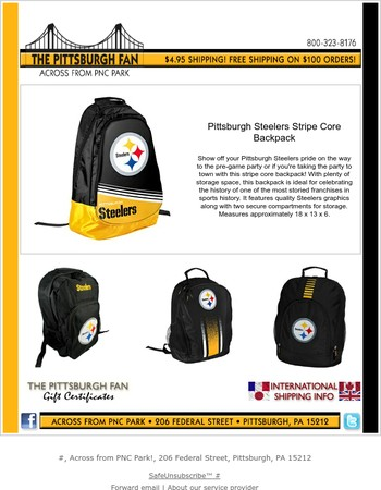 Steelers Backpacks for the Upcoming School Year
