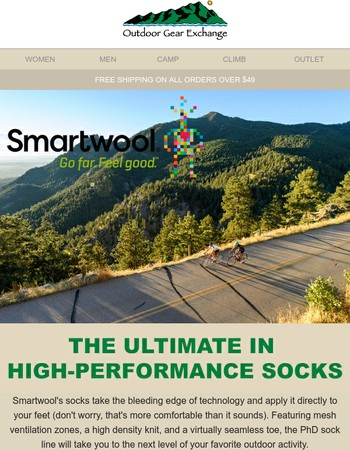 Fear no trail with Smartwool socks on your feet