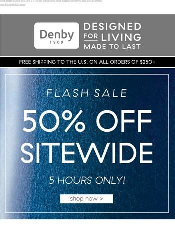 50% Off Flash Sale ⚡ Starts NOW!