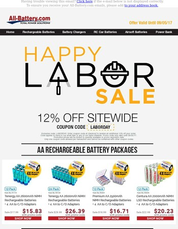 The SALE is on! Exclusive discounts for Labor Day!