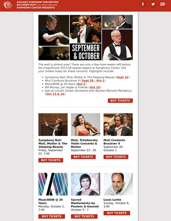 September and October at Symphony Center