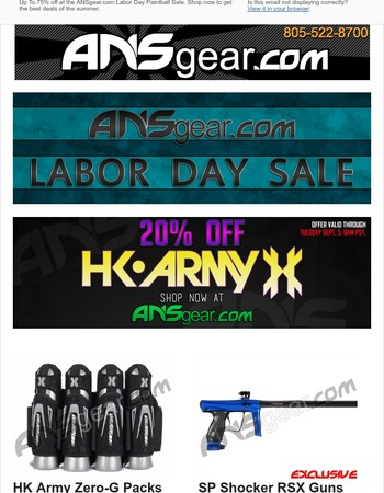 Labor Day Paintball Sale - Up To 75% Off