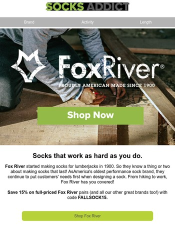 Fox River: Socks That Work As Hard As You Do
