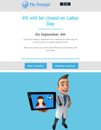 Closed for Labor Day 2017!