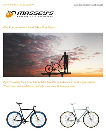 Meet our newest bike brand: Pure Cycles.