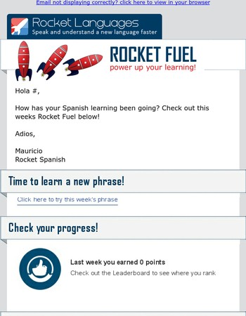 Hola Mary, here is your Rocket Spanish Rocket Fuel