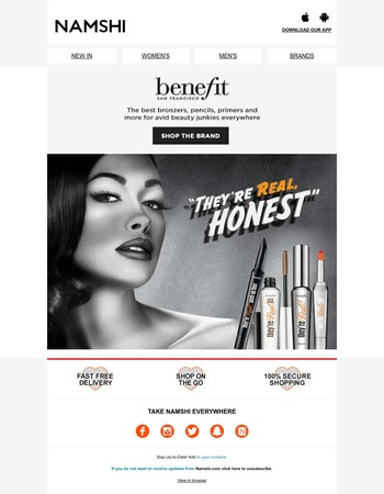 Just landed: new BENEFIT beauty!
