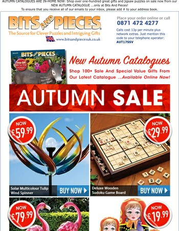 SAVE BIG On Autumn Catalogue Special Values