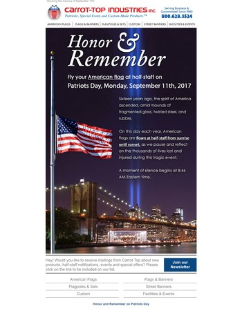 Half-Staff: Honoring the Victims and Heroes of 9/11 on Patriots Day