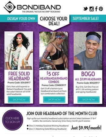 Choose your own sale and save!