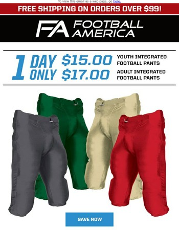 1 DAY ONLY: Champro Integrated Pant Sale